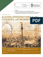 Algunas Aproximaciones a Las Ciudades Latinaomericanas
