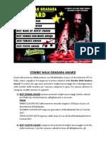 Zombie Walk Gradara Award 2017 - Il contest che ogni anno premia i migliori di ogni categoria!