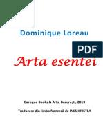 Dominique Loreau - Arta Esentei