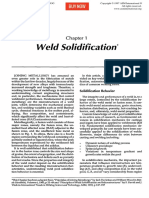 Weld Solidification