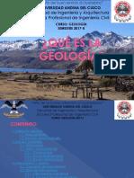 Qué Es La Geología Exposicìon(2016-1)-1