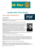 Interview Robert Koch May 2013 by Juliana Swanson _ Jyotish Star of the Month