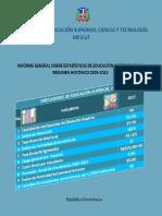 Informe General Sobre Estadisticas de Educacion Sueprior 2015