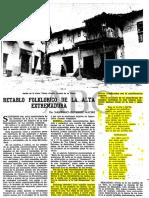 Retablo folklórico de la Alta Extremadura