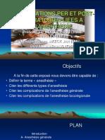 COMPLICATIONS DE L'ANESTHESIE.pptx