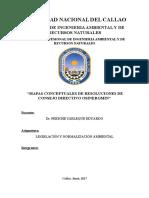MAPAS CONCEPTUALES DE RESOLUCIONES DE CONSEJO DIRECTIVO OSINERGMIN