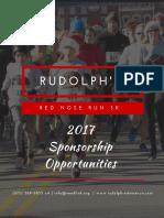 Red Nose Run 2017 Sponsorship Opportunities