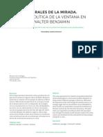 Umbral De la Mirada en Walter Benjamin