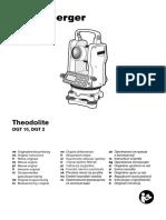 Manual Teodolito DGT10 Atual