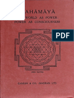 Mahamaya the Word as Power the World as Consciousness Ganesh Co Edition Sir John Woodroffe Part1 PDF