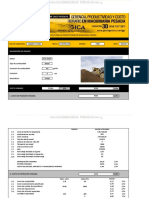 Material Hoja Calculo Productividad Cargador Frontal Identificacion Costo Horario Operacion Produccion Posesion Datos