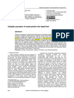 4-Catalytic pyrolysis of waste plastic into liquid fuel.pdf