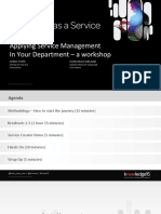 Applying Service Management in Your Department Workshop