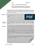 SAMPLE ESSAY 1 – TOEFL® iBT WRTING TASK 2