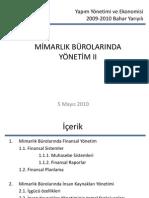 MimarlikOfisi_II yapım ve yapım ekonomisi