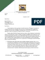 Mayor Jim Gray letter to Lexington Cemetery