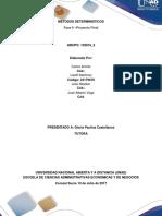 Consolidado Final. Metodos Deterministicos.2-Min