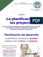 Tema 1a La Planificación y Los Proyectos