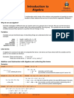Algebra - Introduction