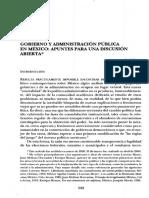 SOSA, J . Gobierno y Administración Pública en México