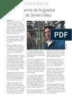 Importancia de la Guadua en la Obra de Simon Velez