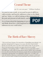 beginnings of race slavery notes