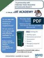 September 28 Rat Academy