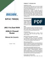 Manual Billion 7800