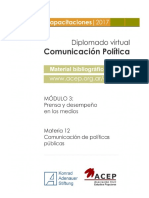 Materia 12 - Comunicación de Políticas Públicas