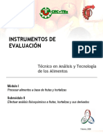 Instrumentos m1 s2 Análisis y Tecnología de Alimentos
