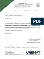 Of.nº036 Solicitação de Empréstimo de Livro Para Bibl. BBG