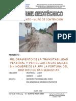 13.- Pavimentacion Fortuna - Estudio de Suelos