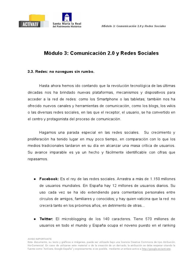 3 3 Comunicación 2 0 Y Redes Sociales