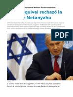 Perez Esquivel Repudia Primer Ministro Israelí