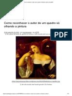 Como Reconhecer o Autor de Um Quadro Só Olhando a Pintura _ Arquitêta