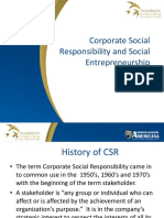 Corporate Social Responsibility and Social Entrepreneurship