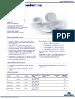 Platos de Melamina Especificaciones Tecnicas