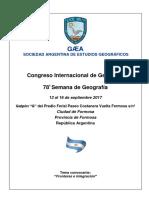 PROGRAMA Congreso Internacional de Geografía 2017