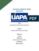 Tarea IV de Educacion Para La Diversidad