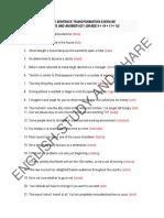 Key Word Sentence Transformation Exercise