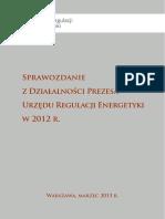 Sprawozdanie URE 2012