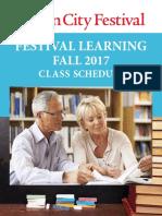 Sun City Festival Fall Class 2017