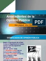 Antecedentes de La Opinión Pública