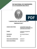 Laboratorio medición de la Temperatura-UNI