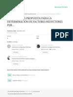 Metodologia Propuestas Para La Determinacion de Factores Reductores Por Sobrerresistencia y Ductilidad