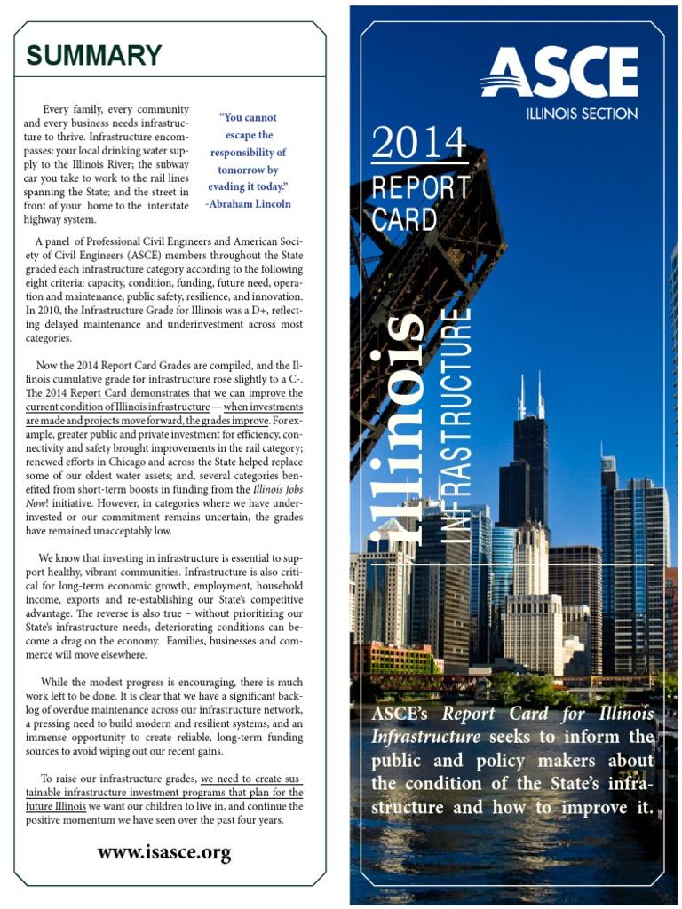 ISASCE 2014 Report Card Illinois   Public Transport