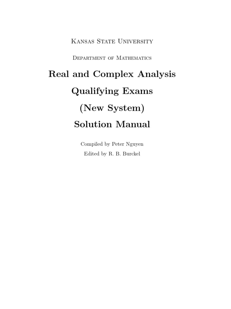 Real and Complex Analysis Solutions Manual | Measure (Mathematics) |  Lebesgue Integration