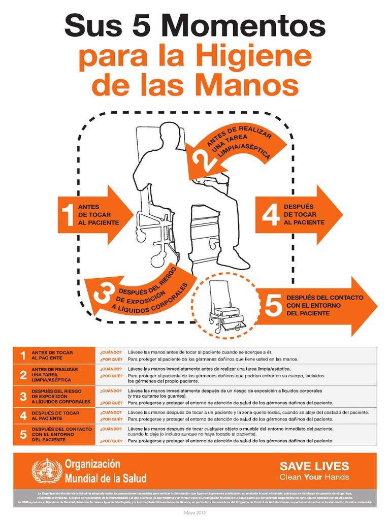 Sus 5 Momentos Para La Higiene De Las Manos Atencion Ambulatoria Pdf