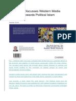 New Book Discusses Western Media Discourse Towards Political Islam