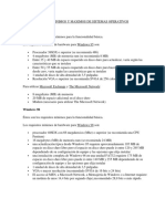 Requerimientos Minimos y Maximos de Sistemas Operativos